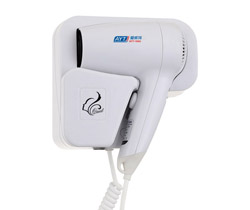 Hotel wall mounted hair dryer with socket AYT-188A